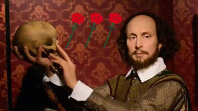シェークスピアとバラの画像